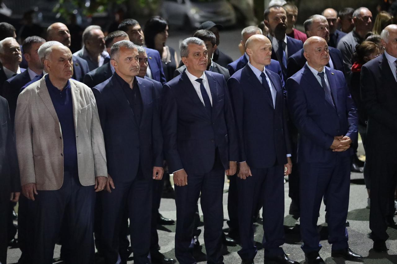 Выступление Президента Аслана Бжания на памятных мероприятиях, посвященных событиям августа 2008 г. в Южной Осетии